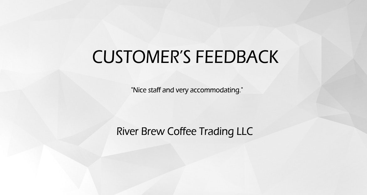 Customer's Feedback (River Brew)