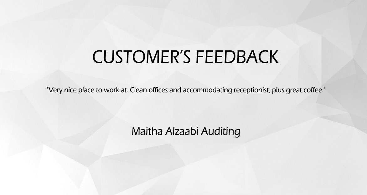 Customer's Feedback (Maitha Alzaabi Auditing)